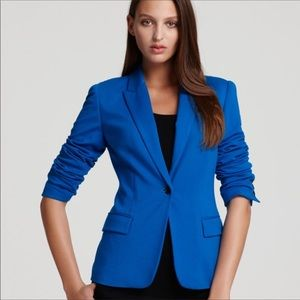 Vince Camuto Blue Stretch Cotton Versatile Jacket